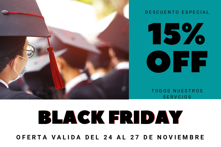 Tesis doctorales 15% off Black friday